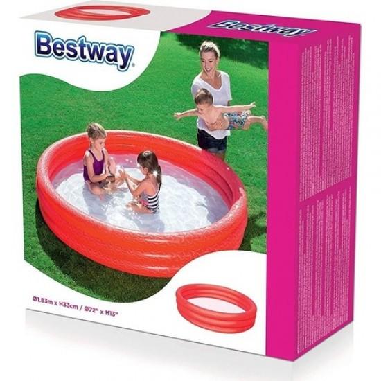 Bestway Çocuk Havuzu 183X33 cm Bestway Kırmızı - 51027