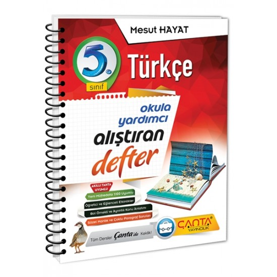 Çanta Yayınları 5.Sınıf Türkçe Alıştıran Defter