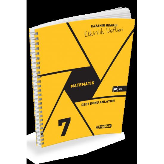 Hız Yayınları 7. Sınıf Matematik Etkinlik Defteri 2020-2021