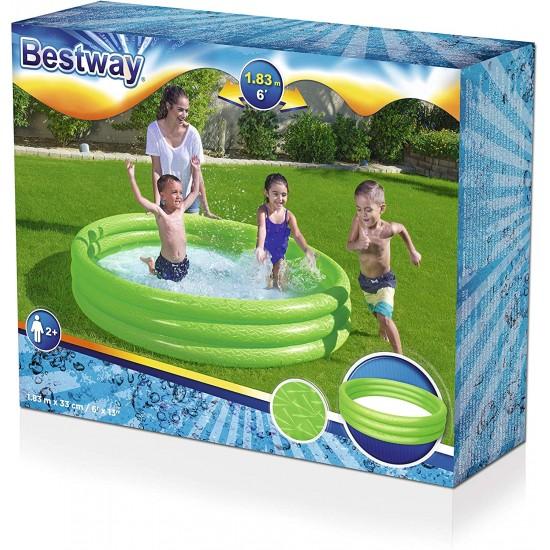 Bestway 3 Boğum Düz Renk Oyun Havuzu - 183x33cm - 51027