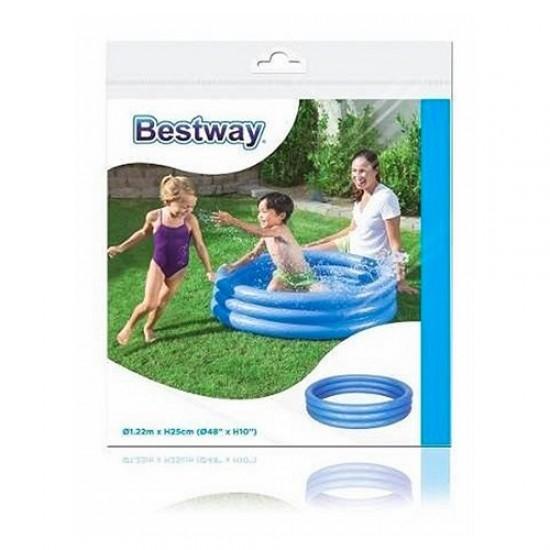 Bestway Renkli Şişme Çocuk Havuzu Mavi 122x25cm