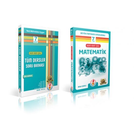 Adım adım ışıklı 7. sınıf tüm dersler ve matematik konu anlatın set 2 kitap