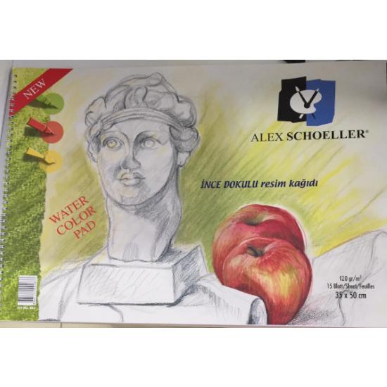 Alex Schoeller Spiralli Resim Defteri 35 x 50Cm 120Gr 15 Yaprak