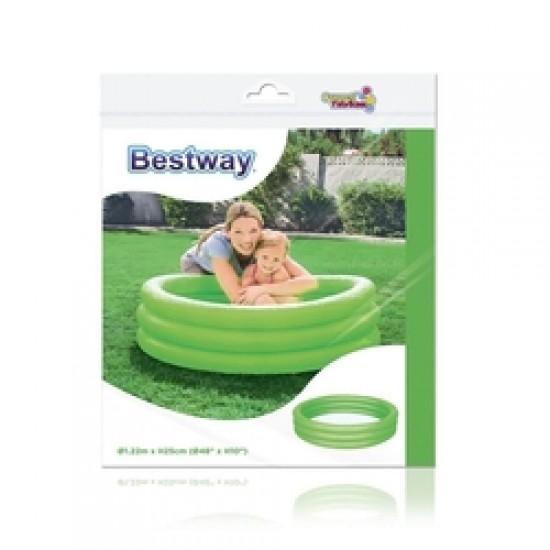 Bestway Renkli Şişme Çocuk Havuzu Yeşil 122x25cm