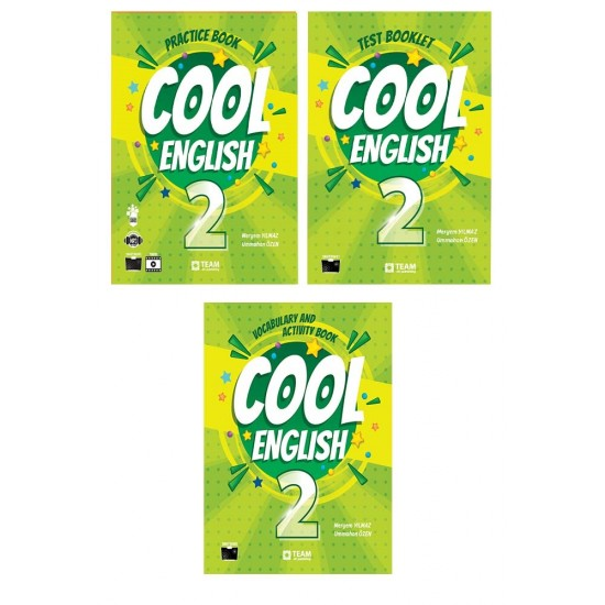 Cool English 2. Sınıf (Practice book-Test Booklet-Vocabulary and Activity Book) 3 Kitap Set