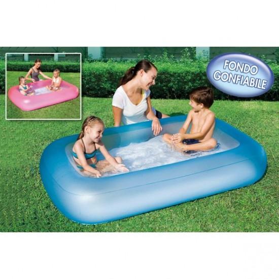 Bestway Şişme Tabanlı Dikdörtgen Şişme Çocuk Havuzu Mavi 51115