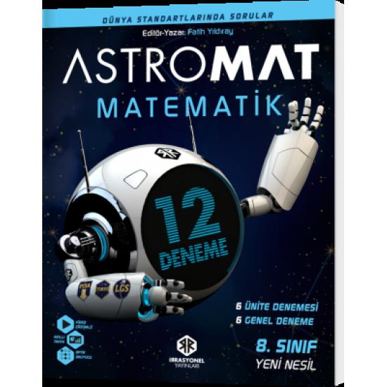 İrrasyonel Yayınları Astromat 8. Sınıf Yeni Nesil Matematik 12'li Deneme